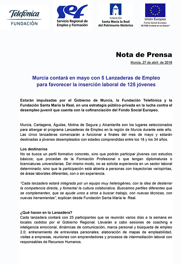 NP Anuncio Lanzaderas Murcia 2016-1