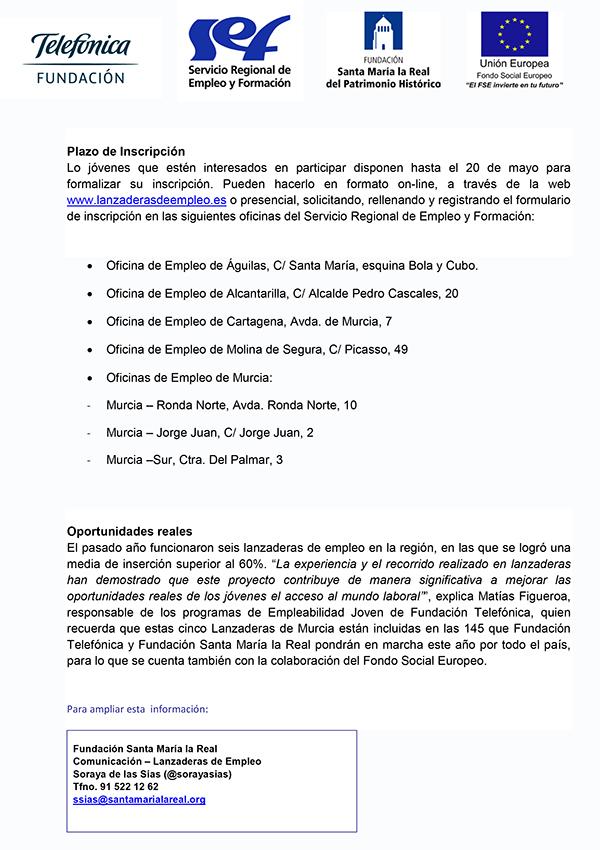 NP Anuncio Lanzaderas Murcia 2016