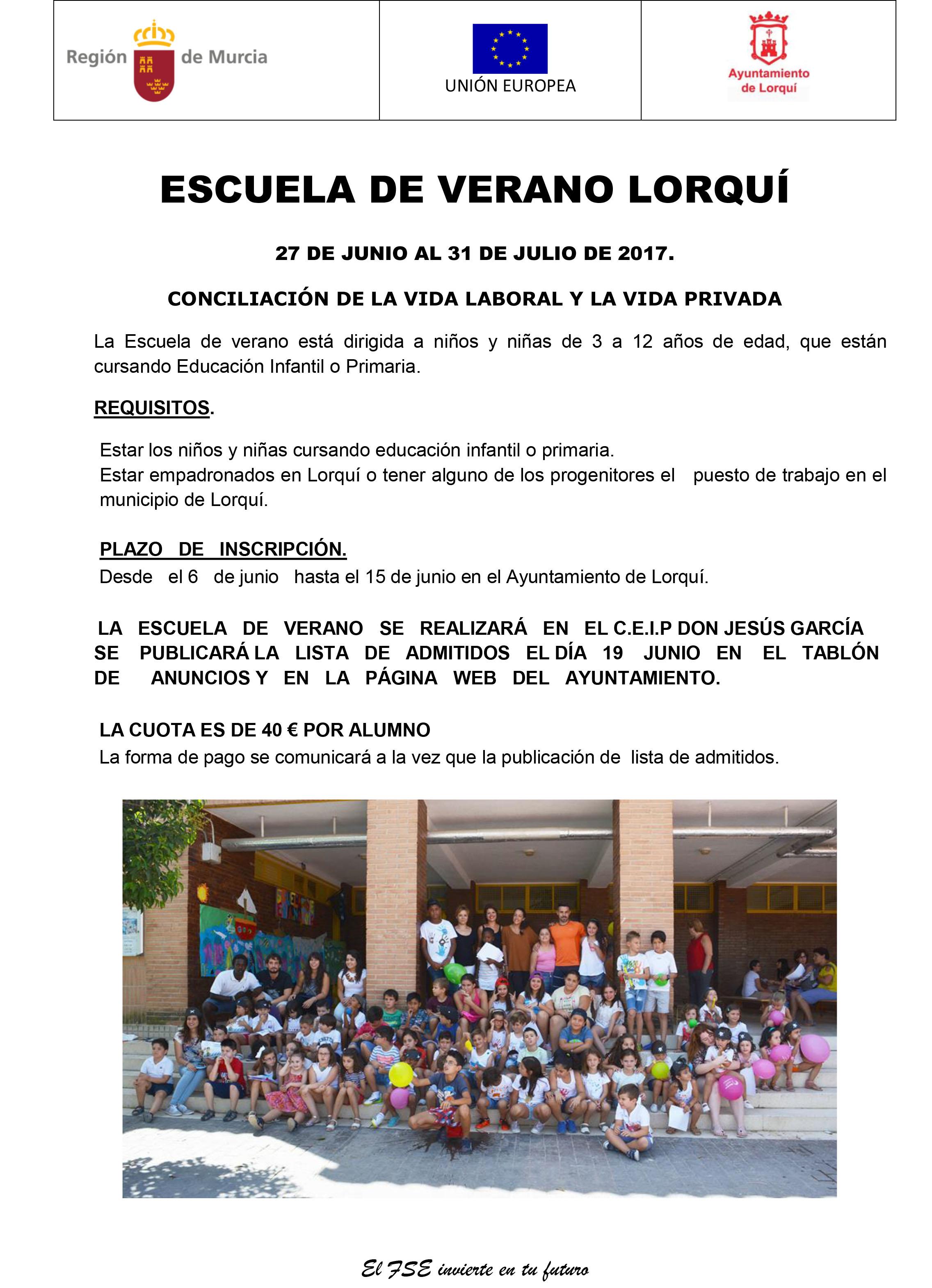 cartel ESCUELA DE VERANO 2017
