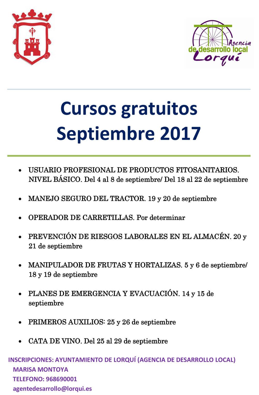 Cartel cursos de septiembre
