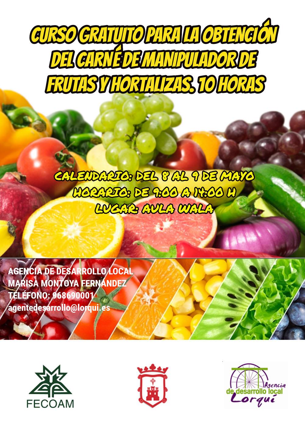 Cartel Fecoam Manipulador frutas y hortalizas