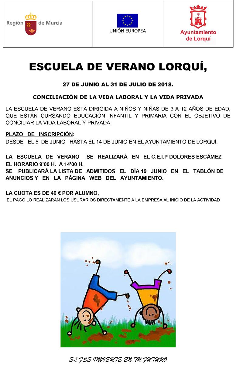 cartel ESCUELA DE VERANO 2018