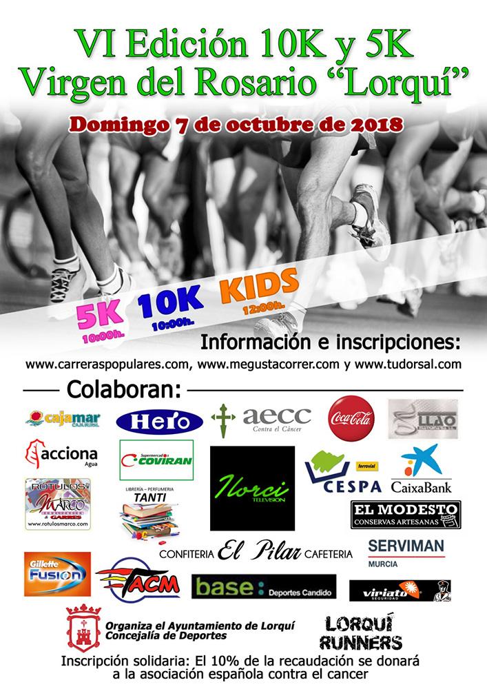 Cartel Carrera Villa Lorquí 2018
