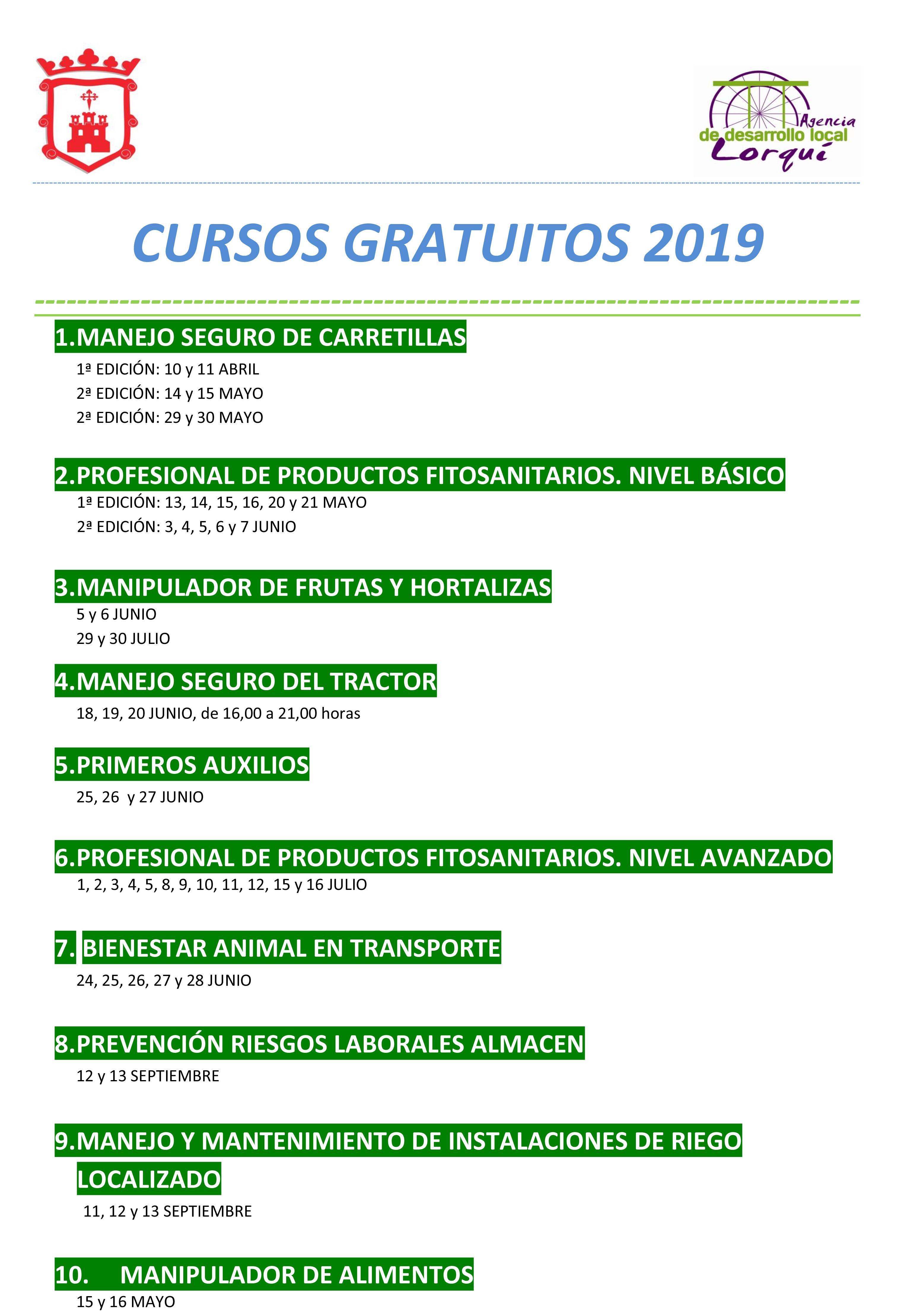 Cartel cursos 2019