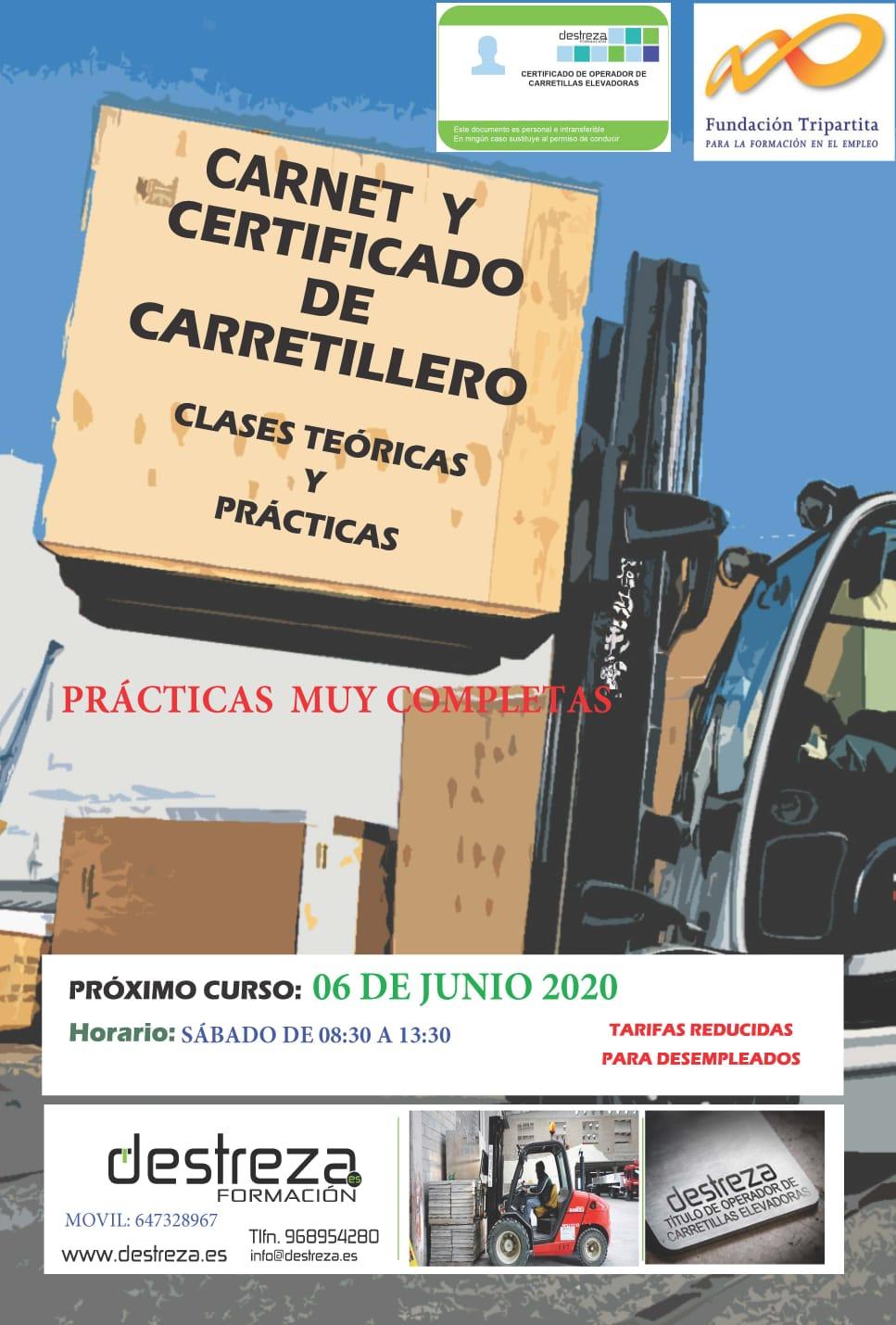 certificado carretillero